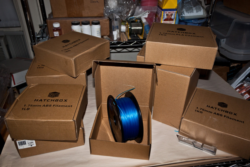 Picture of filament boxes.